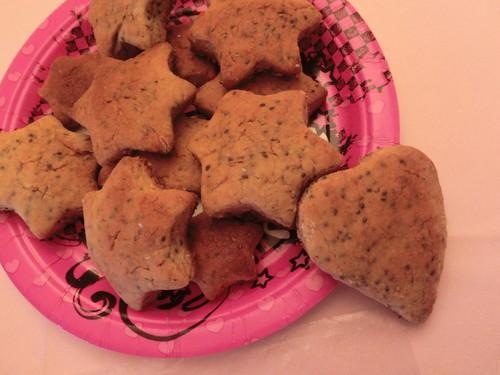 Biscoitos limão e chia