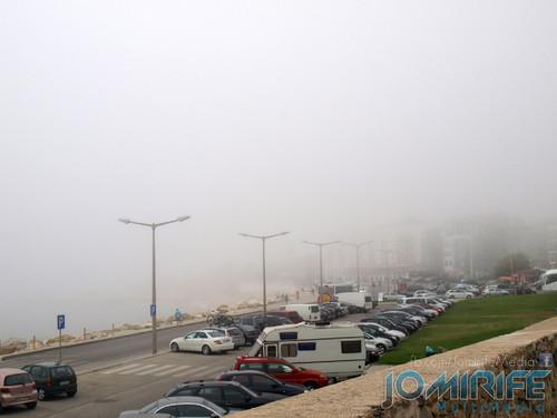 Praia de Buarcos com nevoeiro. Buarcos Beach with fog