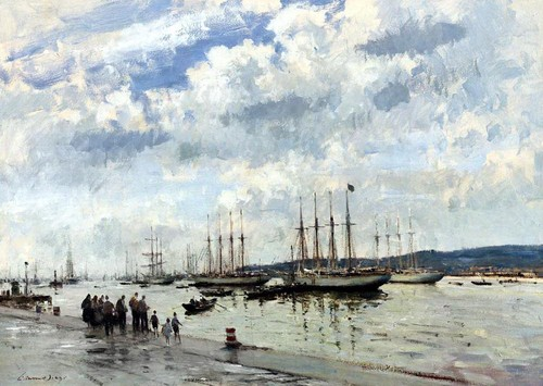 Edward Seago - bacalhoeiros on the tagus