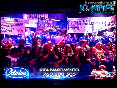 Claque da Rita Nascimento no programa Ídolos 2015