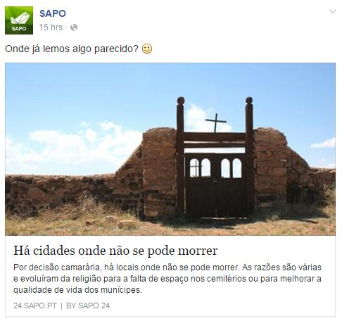 Proibido morrer - SAPO