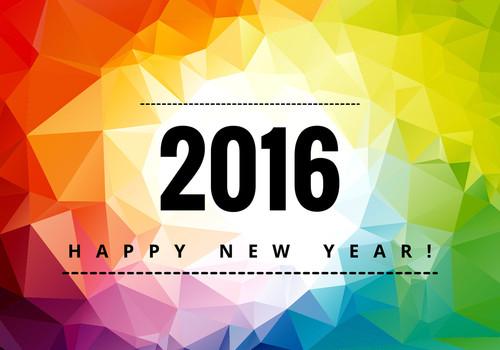 Colorful ano novo feliz 2016 - Descarregue Arte Ve
