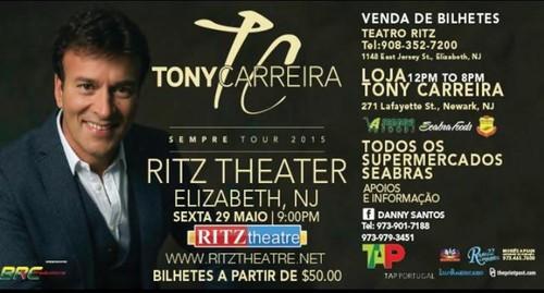 Concerto em New Jersey 29 de Maio 2015 do Tony Carreira