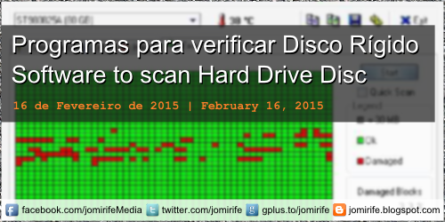 Blog post: Os melhores programas para verificar erros do seu Disco Rígido [en] The best programs to check for errors on your Hard Drive