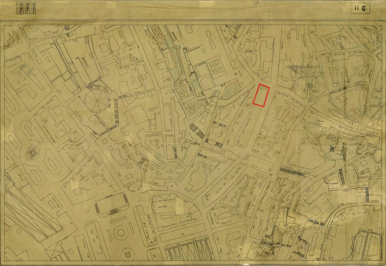 Planta topográfica de Lisboa 11 G, 1925, de José