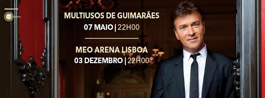 Concertos Tour 2016 em Portugal do Tony Carreira