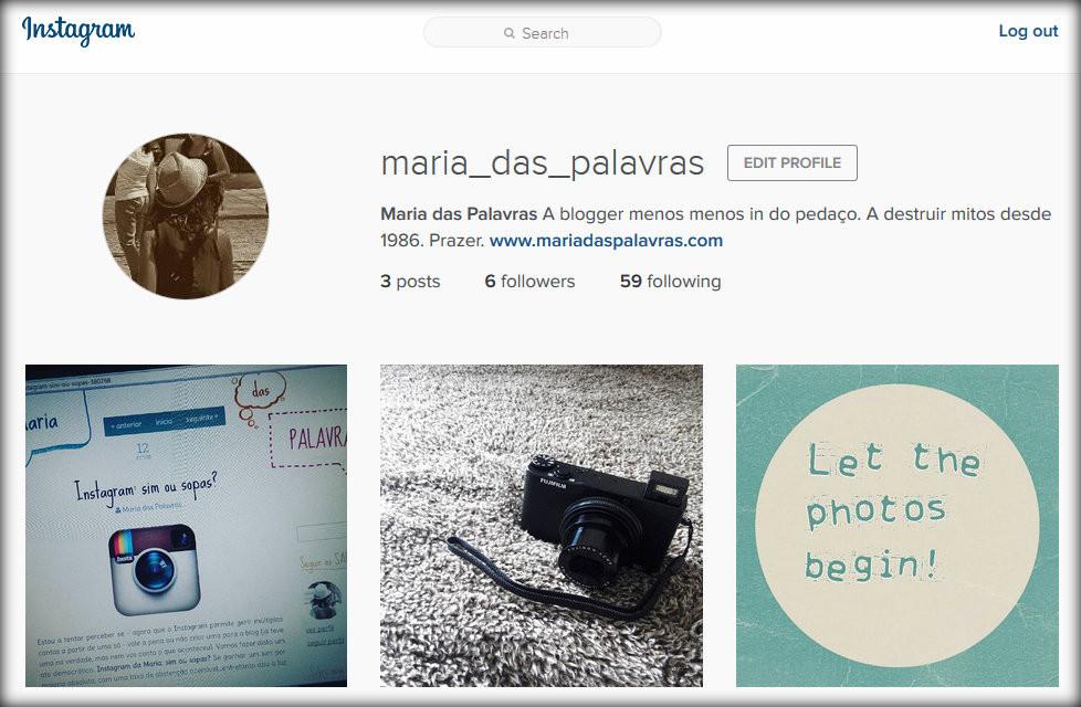Maria das Palavras no Instagram