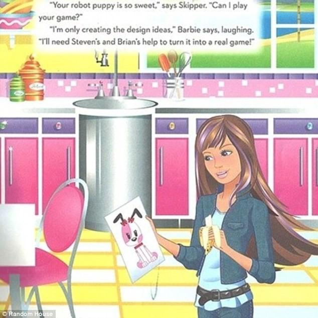 Barbie só faz os desenhos