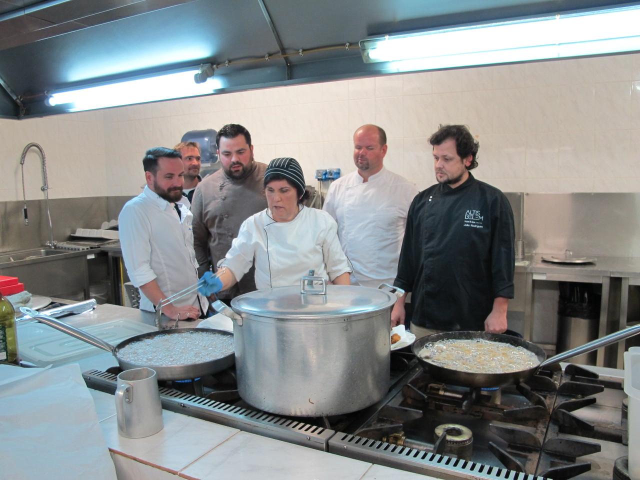 Jú e os chefs