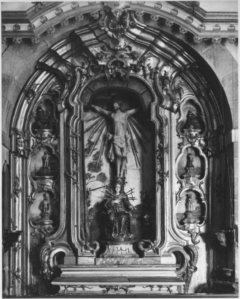 Retábulo do Crucificado, Igreja de S. Jerónimo Real (S. Francisco), Braga (R. Smith, 1962-64)