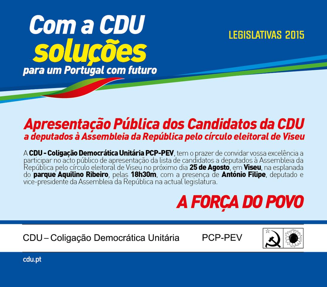 Apresentação candidatos Viseu1 2015