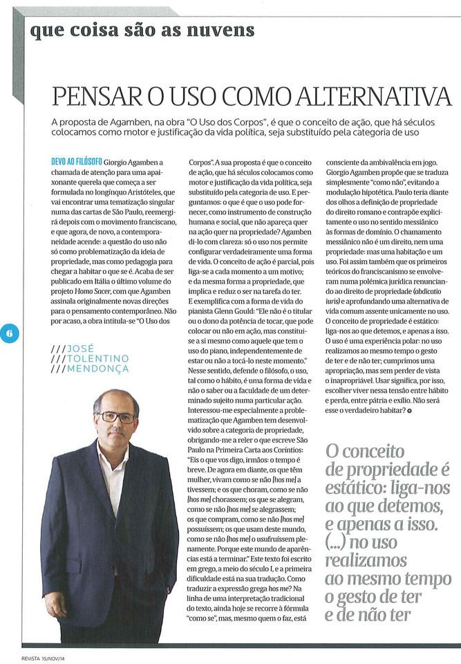 José Tolentino Mendonça Expresso 15 Nov. 2014.jp