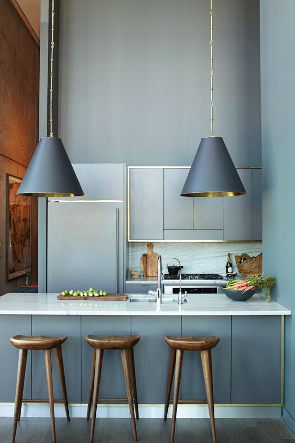 Athena-Calderone-gray-black-kitchen-brass-trim-Baz