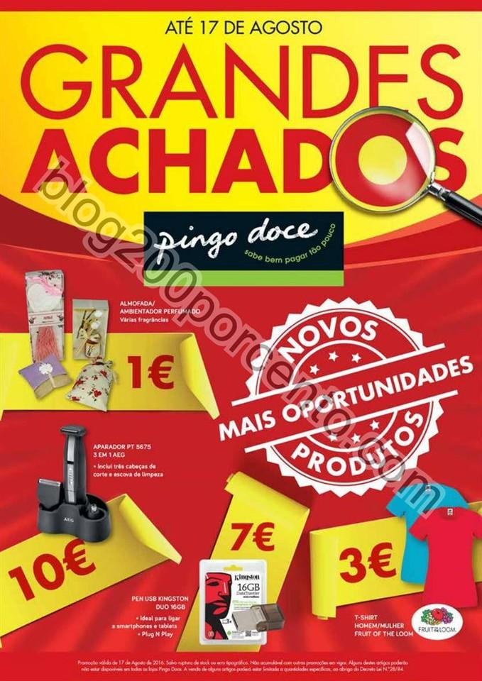 Novo Folheto PINGO DOCE Grandes Achados promoçõe