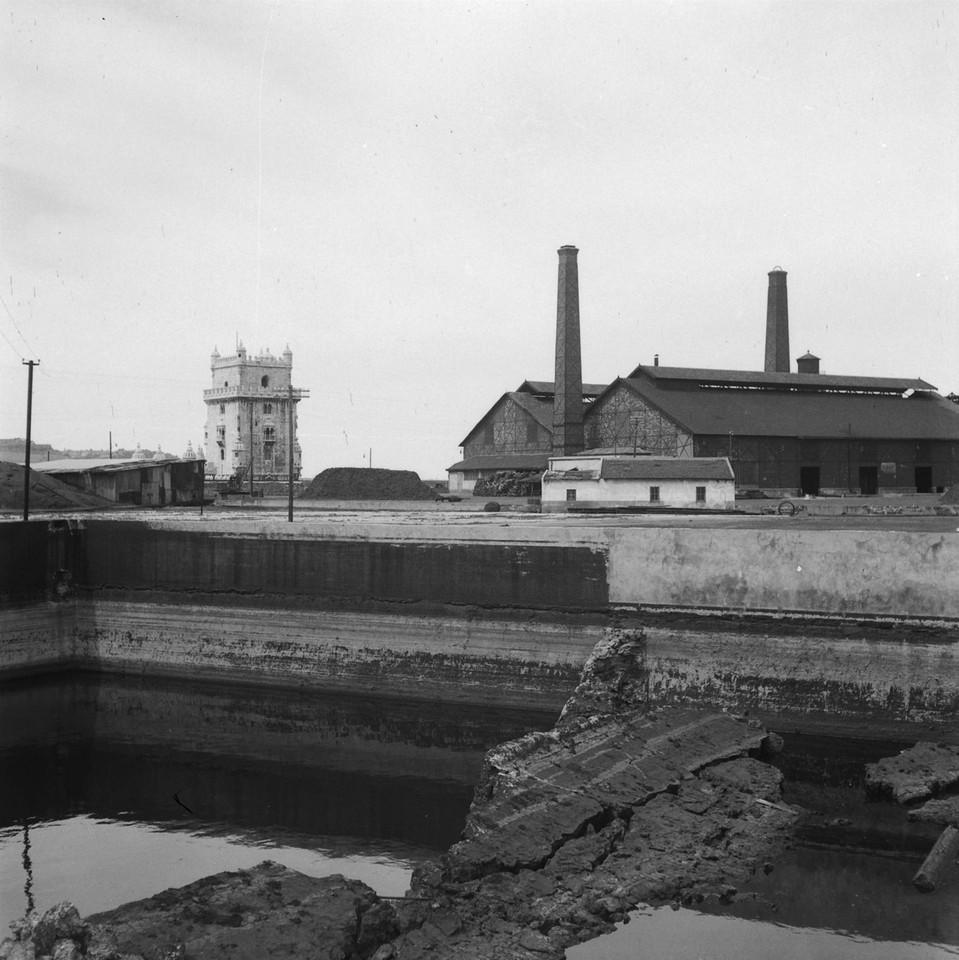 Fábrica do gás de Belém no dia em que deixou de