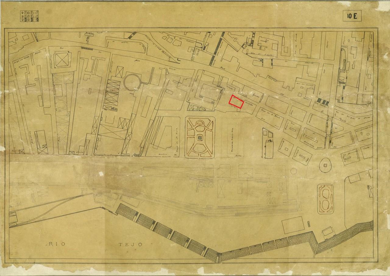 Planta topográfica de Lisboa 10 E, 1925, de José