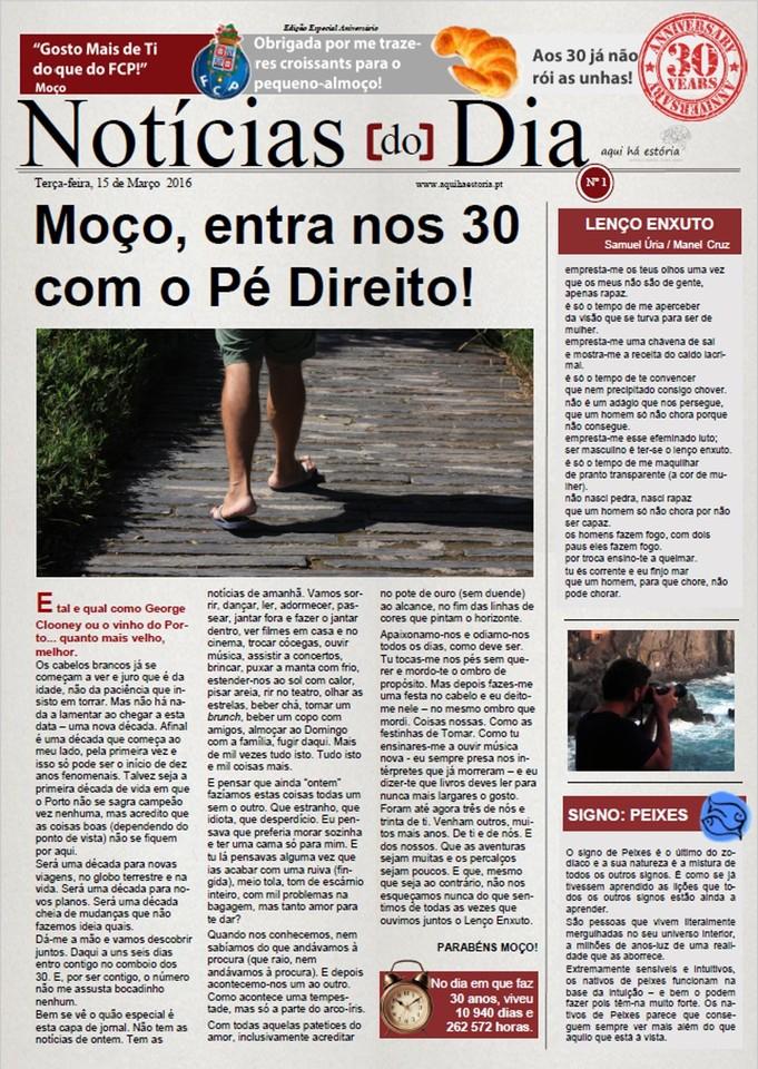 Capa Jornal do Moço - Aqui há Estória / Maria das Palavras