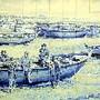 painel azulejos póvoa de varzim catraias batéis