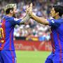 1 - Messi e Suárez (Barcelona) - 28 golos