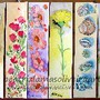 Marcadores de livros tema_ flores e Concha do mar