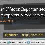 Blog: After Effects Importar sequência de image