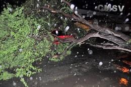 Marcas deixadas pelo furacão Fred no Mindelo