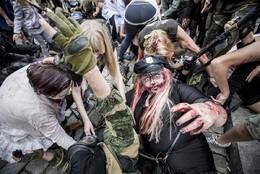 Zombie Walk em Poznan, Polónia