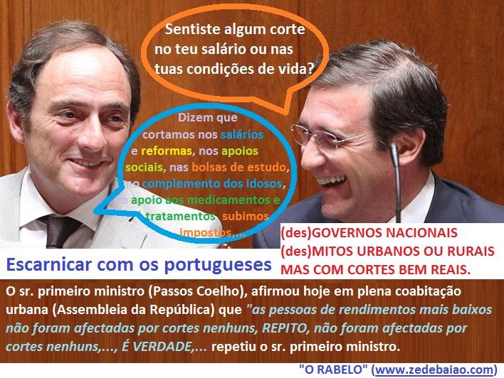 Passos Coelho_mitos urbanos_corte nos rendimentos_