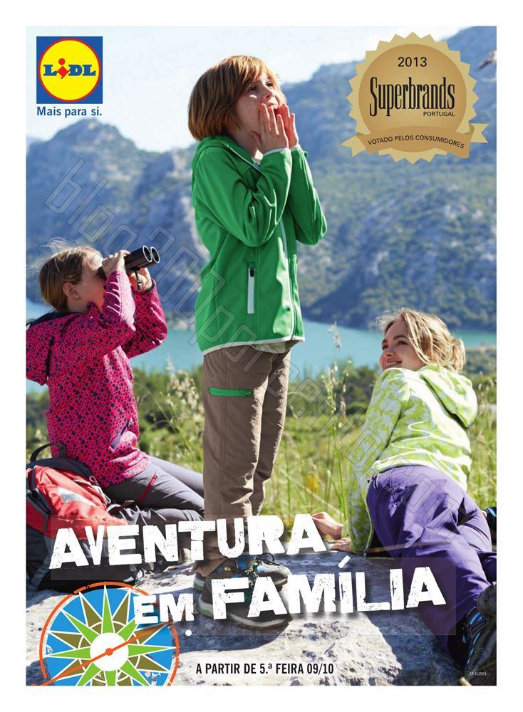 Antevisão folheto LIDL Aventura em família a partir de 9 outubro