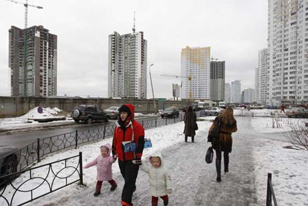 Kiev, a capital da Ucrânia, está no fim do índi