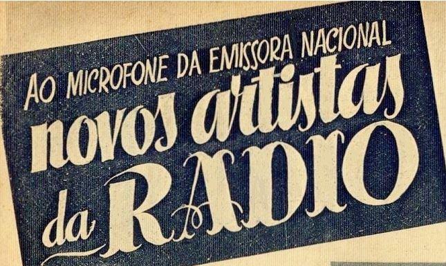 Novos artistas da rádio...