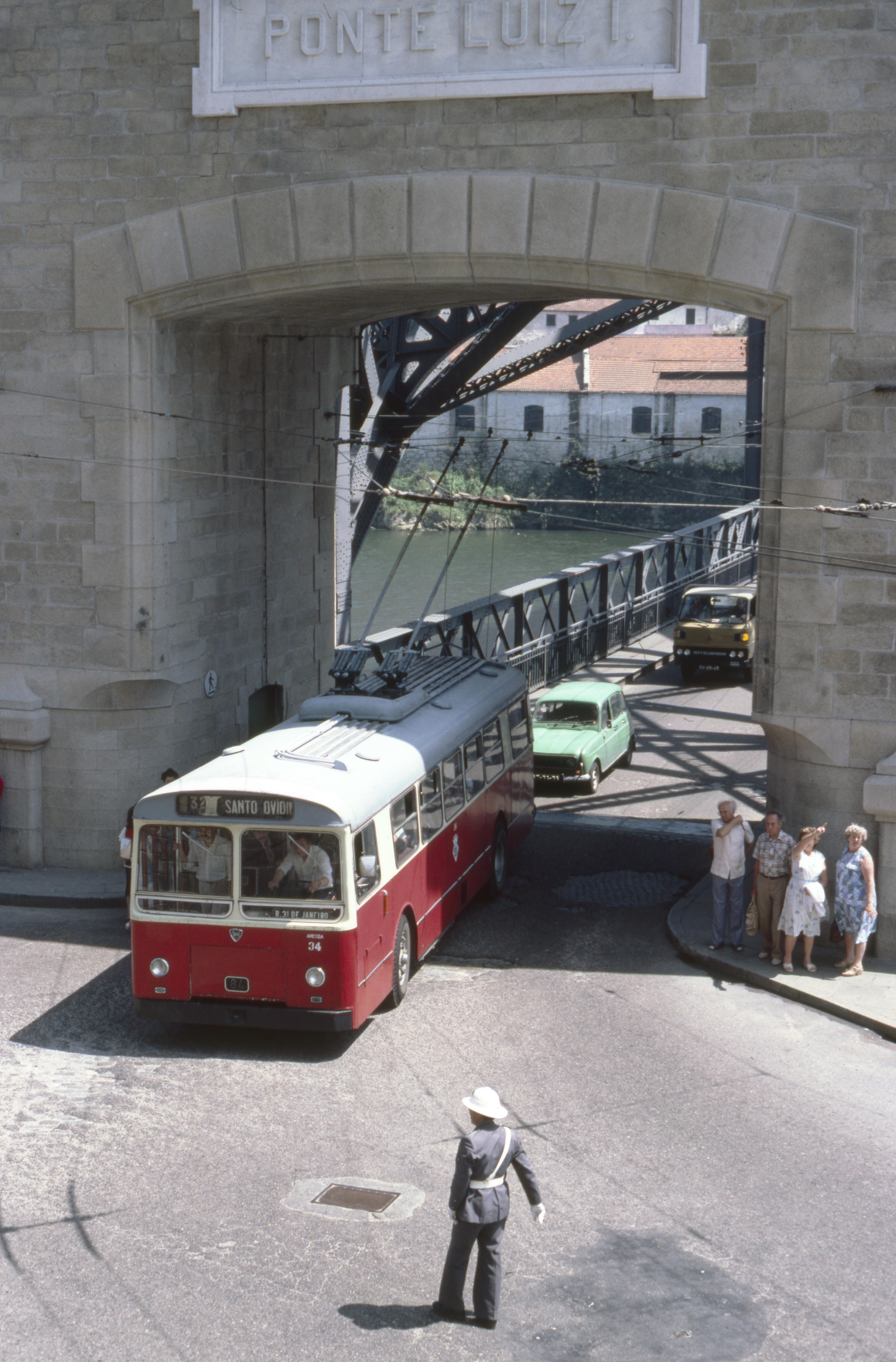 STCP Lancia Trolleybus 34, Porto (M. Rhodes, 1983)