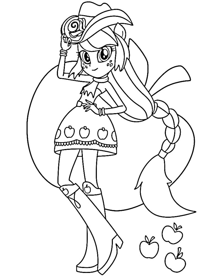 Free Coloring Pages Of Mlp Rainbow Rocks My Pony Equestria Friendship Coloring Pages