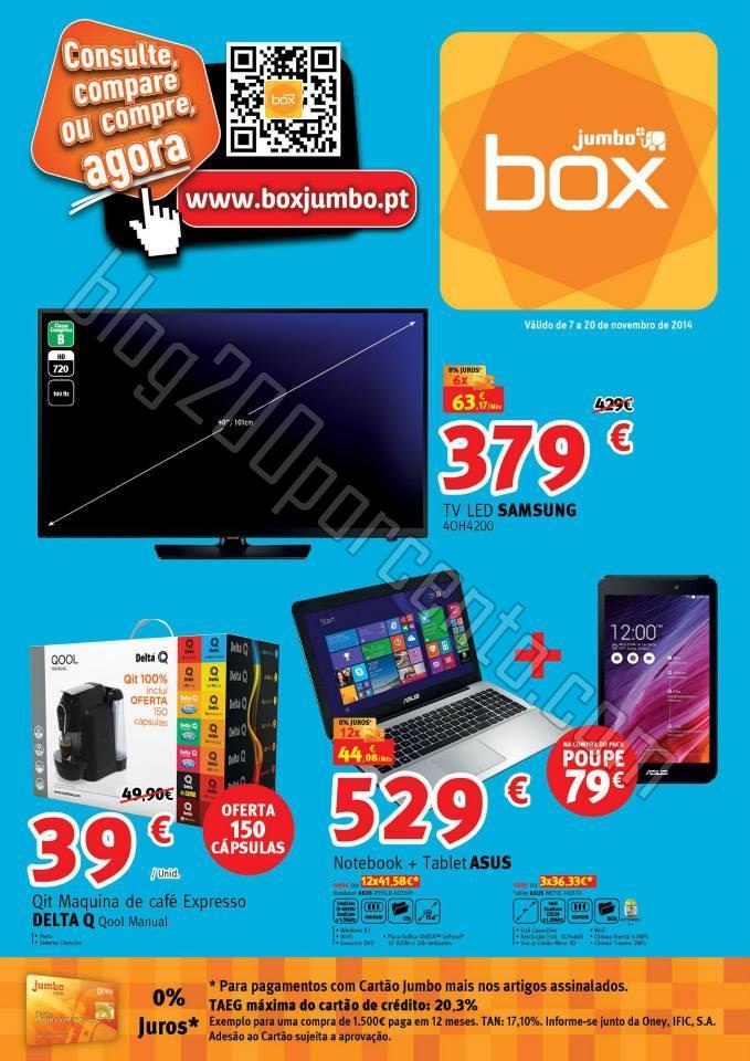 Antevisão Folheto JUMBO - BOX promoções de 7 a