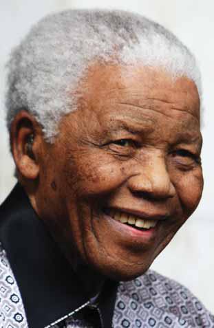Nelson Mandela, do grupo etno-linguístico Xhosa, apresenta semelhança física com os Khoisan.